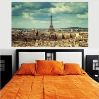 A Beautiful City of Lovers Paris Eiffel Tower HD Wallpaper No Framed 2ft X 4ft Canvas Art(48 inch X 24 inch)