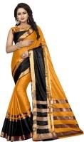 Villagius Self Design Fashion Cotton Silk Saree(Orange)