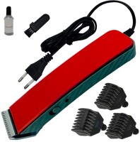 JM Professional Waterproof Bread Mustache Trimmer Hair Clipper Electric Razor Shaver  Runtime: 0 min Trimmer for Men(Red)