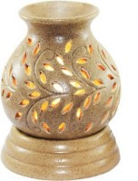 Lyallpur Stores Ceramic Aroma Electric Diffuse / Night Lamp/Ceramic Burner Matki Shape (Brown) for Home | Office | Gym | Spa. With (10 ML) Lavender Fragrance Oil Diffuser(2 x 5 ml)