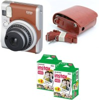 Fujifilm Mini 90 Brown with Brown Flat case & 40 Shots Instant Camera(Brown)