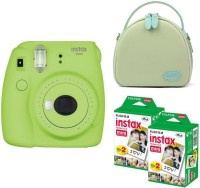 FUJIFILM Mini 9 Lime Green with green shell bag and 40 Shots Instant Camera(Green)