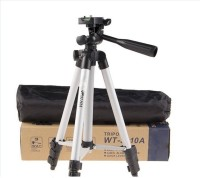 TSV 110A Tripod 4.5 Feet Pan Head Lightweight Tripod for all digital Cameras(SLR/DSLR) & projectors, all Mobile phones Tripod(Black, Supports Up to 1500 g)