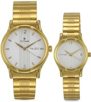 Titan NH15802490YM04 Bandhan Analog Watch For Couple