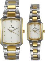Titan 19552955BM01 Bandhan Analog Watch For Couple