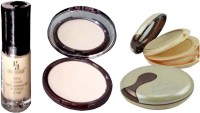 Half N Half spray foundation pan cake and crystal compact(C-03,cp-06, g-08) combo of 3(Set of 3)