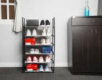 Flipkart SmartBuy Metal Collapsible Shoe Stand(Grey, 6 Shelves)