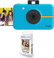 Polaroid Snap Instant Camera Blue With 2x3 Inch Premium Zink Photo Paper (20 Sheets) Instant Camera(blue)