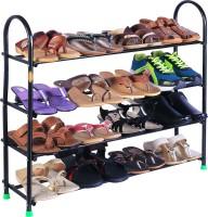 Patelraj SmartBuy Metal Shoe Stand(Black, 4 Shelves)