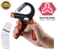 Quick Shel Hand Gripper For Best Hand Exerciser Grip Adjustable 10kg to 40kg Hand Grip/Fitness Grip(Orange)