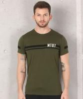 Metronaut Solid Men Round Neck Dark Green T-Shirt