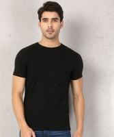 Metronaut Solid Men Round Neck Black T-Shirt