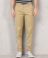 Metronaut Regular Fit Men Polycotton Beige Trousers