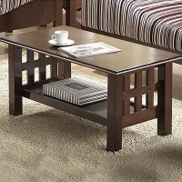 RoyalOak Stacy Solid Wood Coffee Table(Finish Color - Brown)