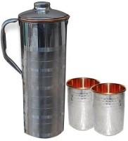 Asia Craft JUG003-TUMBLER008-2 Jug Glass Set(Stainless Steel)