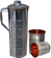 Asia Craft JUG003-TUMBLER007-2 Jug Glass Set(Stainless Steel)