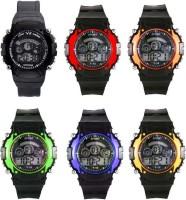 Orayan Seven Light LED Combo of 6 Digital Watch  - For Boys & Girls