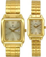 Titan 15812488YM05 Bandhan Analog Watch For Couple