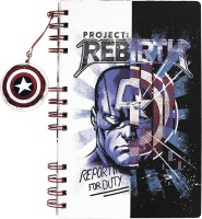 Doodle Captain America With Shield Dangler A5 Notebook Ruled 160 Pages(Multicolor)