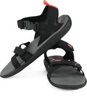 Puma Men Dark Shadow-Red Blast- Black Sports Sandals