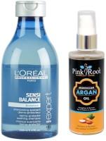 PINKROOT ARGAN OIL 100ML WITH LOREAL SERIE EXPERT SENSI BALANCE SHAMPOO(2 Items in the set)