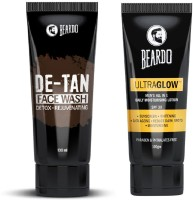 Beardo De Tan Face Wash and Ultraglow Face Lotion for Men(2 Items in the set)