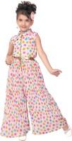 Smilee Polka Print Girls Jumpsuit