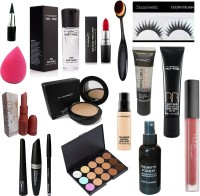 Sscosmetic combo - kit set of 15 ( Liner , mascara , kajal , lipstick , infallible , conceller )(15 Items in the set)