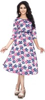 E 4 ETHNICWEAR Women A-line Pink Dress