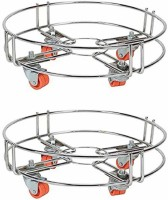 Value Adds Cylinder Trolley (Set Of 2) Gas Stand Gas Cylinder Trolley(Silver)