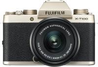 FUJIFILM X Series X-T100 Mirrorless Camera Body with XC 15 - 45 mm Lens F3.5 - 5.6 OIS PZ(Gold, Black)