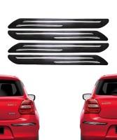 VRT Plastic Car Bumper Guard(Black, Pack of 4, Universal For Car, Universal For Car)