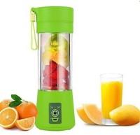 GORICH SS_JB_58 Mini Juicer Portable Eletric Juicer Cup 380ml Fruit Mixing Machine ,Glass Bottle (Green) 450 Juicer Mixer Grinder (1 Jar, Green)