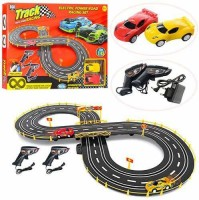 TEMSON Slot Car Set with Racing Assistant High Speed Track Racing Set (A)(Black, Pack of: 1)