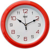 Ajanta Analog 20 cm X 20 cm Wall Clock(Red, With Glass)