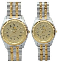 Bromstad 690PG-TWO TONE Pair Analog Watch For Couple