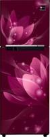 View Samsung 253 L Frost Free Double Door 3 Star Refrigerator(SAFFRON RED, RT28R3053R8/HL)  Price Online