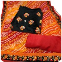 Style Amaze Chanderi Embroidered Suit Fabric(Unstitched)