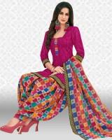 Divastri Crepe Printed Salwar Suit Material(Unstitched)