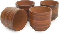 Style My Way Pack of 4 Earthenware Handcrafted Clay Tea/Chai Khullad Cup-Set of 4(Brown)