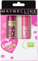 MAYBELLINE NEW YORK Baby Lips Combo Pink Lolita, Watermelon(Pack of: 2, 8 g)