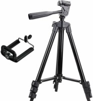 TSV Tripod-3120 Portable Adjustable Aluminum Lightweight Camera Stand Tripod(Black, Supports Up to 1000 g)