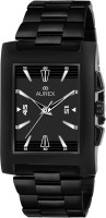 AUREX AX-GSQ150-BKB Black Ion Plated Square Shaped Black Dial Black Ion Plated Stainless Steel Bracelet Premium Watch for Men/Boys Analog Watch  - For Men
