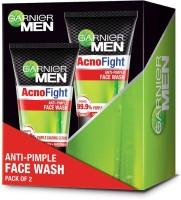 Garnier Acno Fight Anti-Pimple Facewash, Pack of 2 Face Wash(200 g)