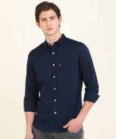 Levi's Men Solid Casual Dark Blue Shirt