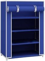 Global Bazarro Multipurpose Metal Collapsible Shoe Stand(Blue, 4 Shelves)