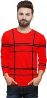 Rebozo Striped Men Round Neck Red T-Shirt