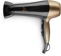 HESLEY Hair Dryer MIS-23 2200 Watts with cool shot knob MIS-23 Hair Dryer(2200 W, BLACK AND GOLD)