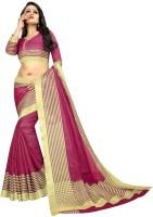 Offirra International Woven Daily Wear Cotton Silk, Chiffon, Net, Crepe Saree(Purple, Gold)