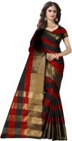 Trendz Style Striped Fashion Tussar Silk, Cotton Silk Saree(Multicolor)